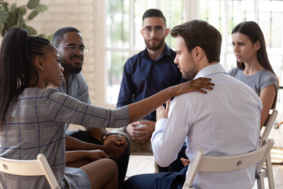 group of people having a counseling session